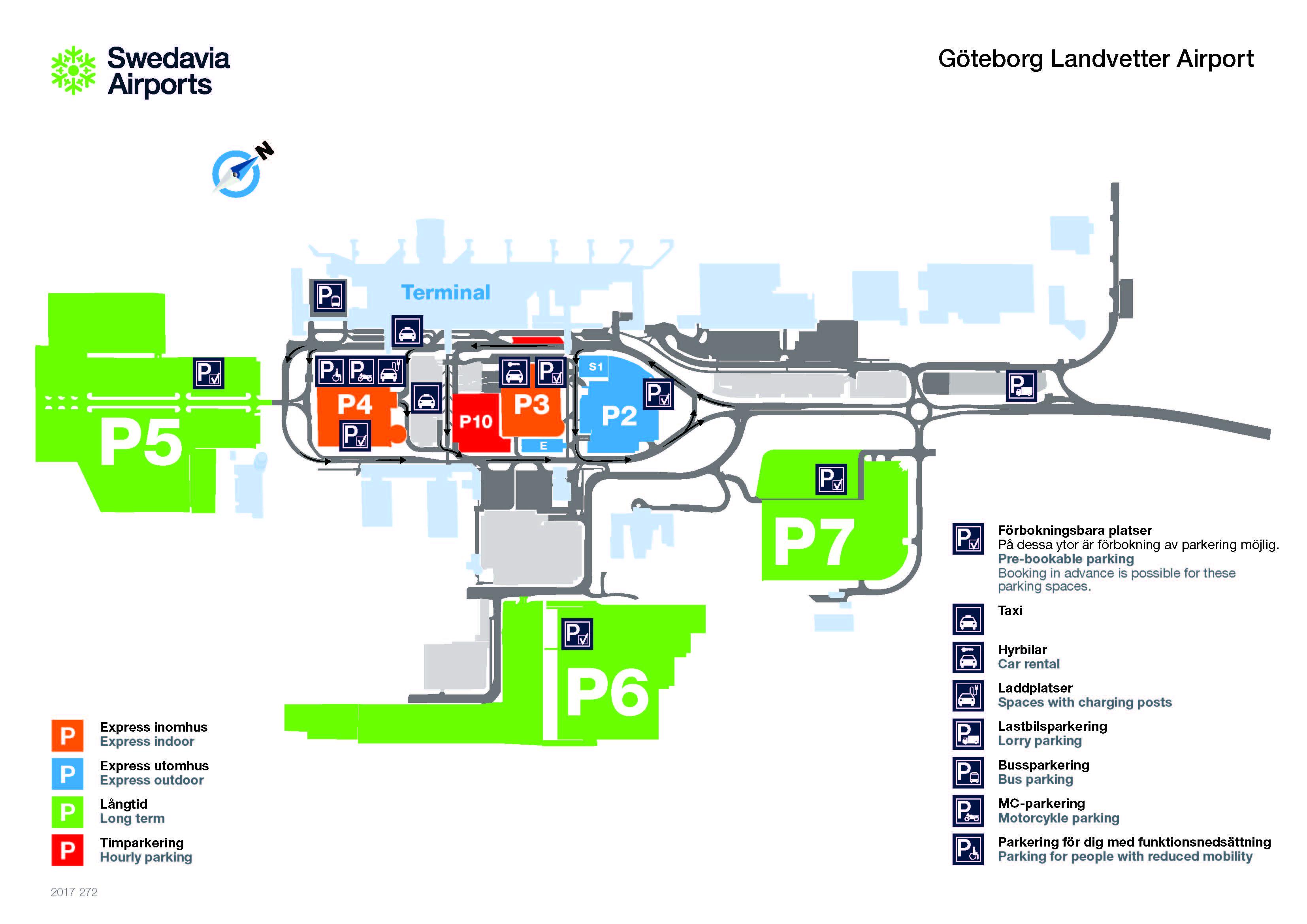 landvetter flygplats parkering