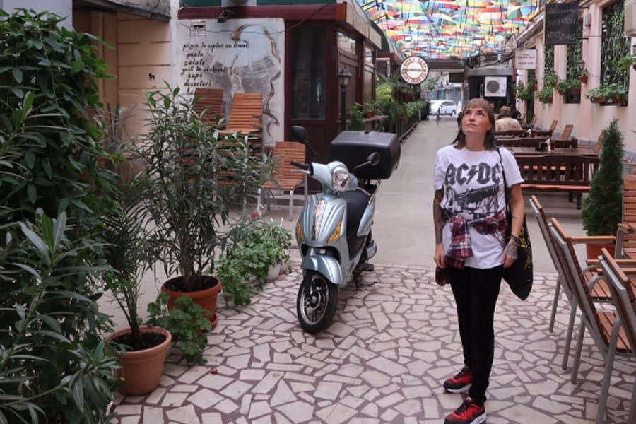 Hippie-trädgården Acuerela i Bukarest