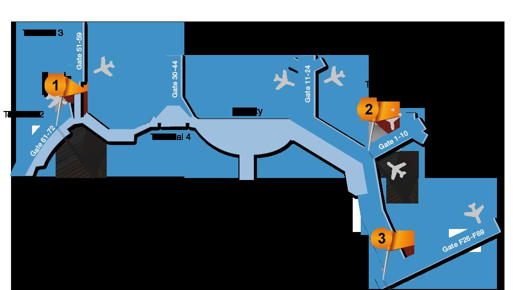 Karta Arlanda Terminal 5 Lounge.Menzies Lounge Stockholm Arlanda Airport