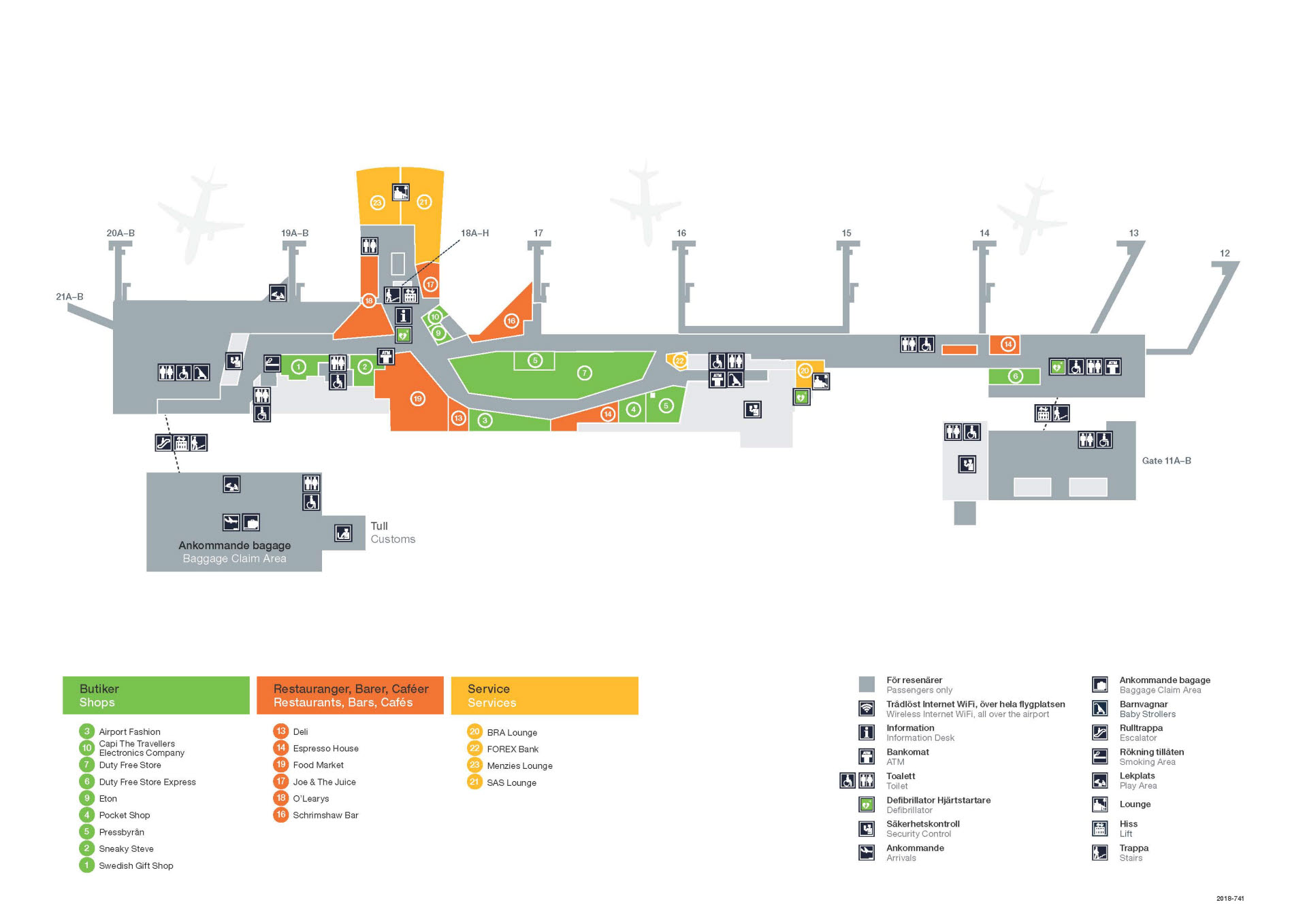 Karta Arlanda Terminal 5 Lounge.Hitta Pa Flygplatsen Goteborg Landvetter Airport