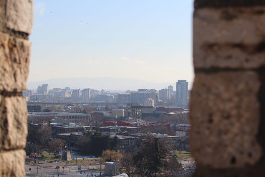 Utsikt över Skopje