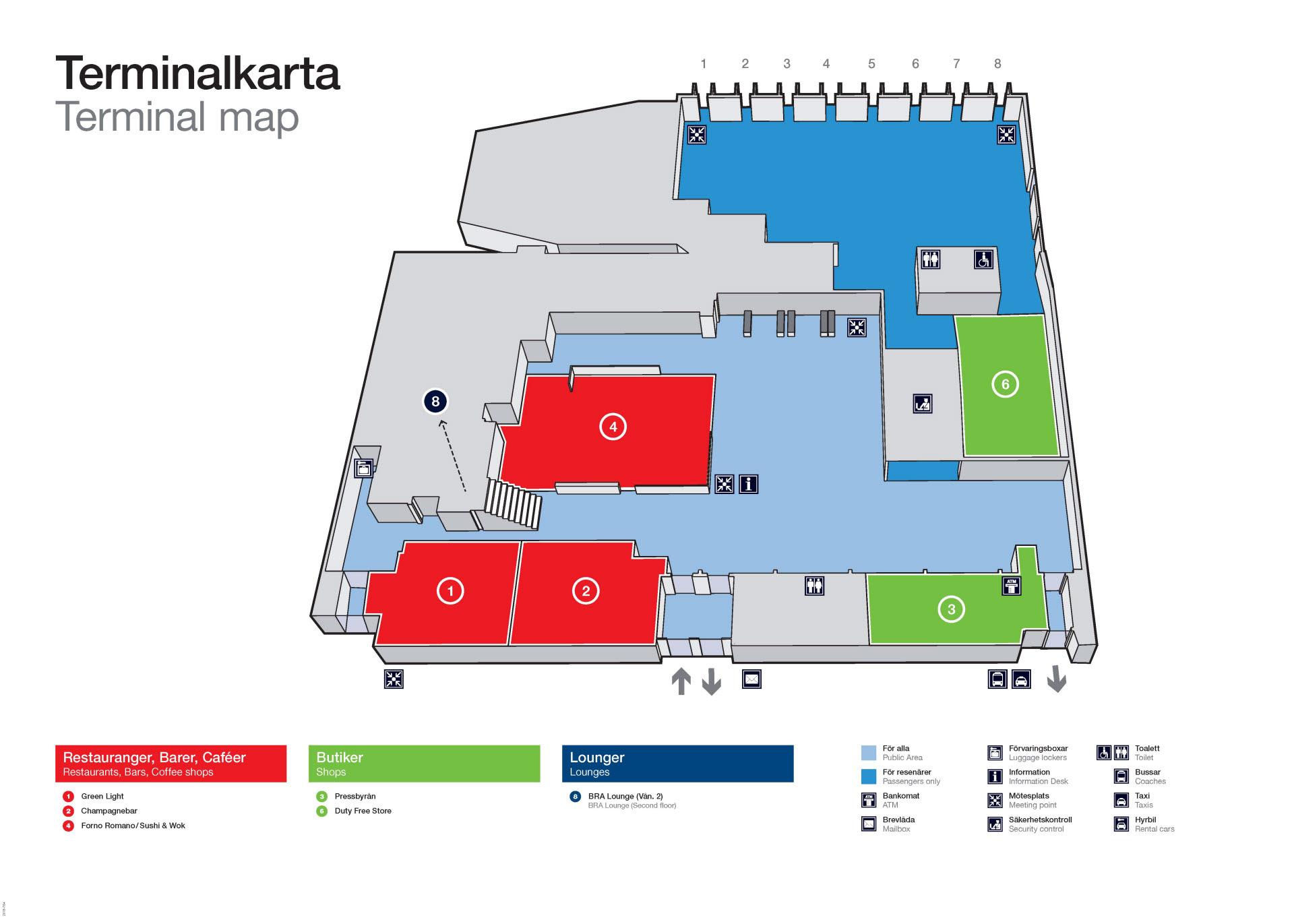 Karta Arlanda Inrikes.Hitta Pa Flygplatsen Bromma Stockholm Airport