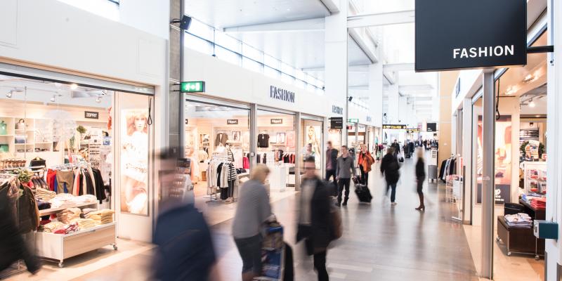 Fashionbutik i Terminal 5 Arlanda