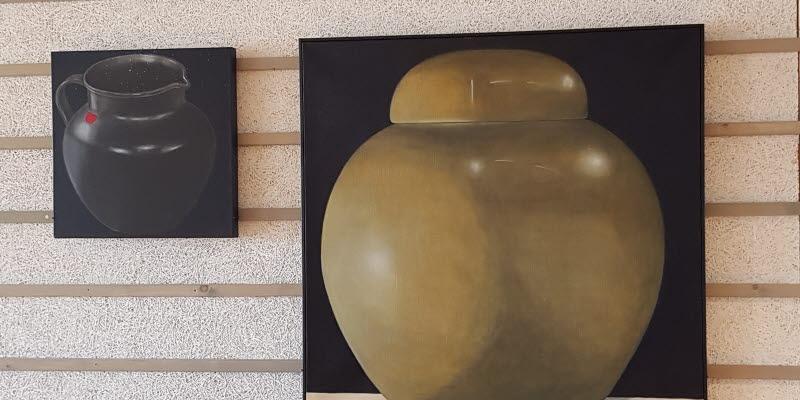 Två konstverk av Karin EE von Törne Haern,
