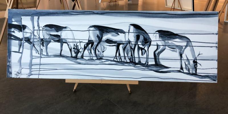 En målning på några renar