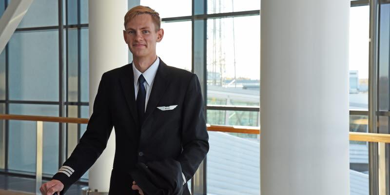 Kaspar Puksand, förste styrman på Air Baltic