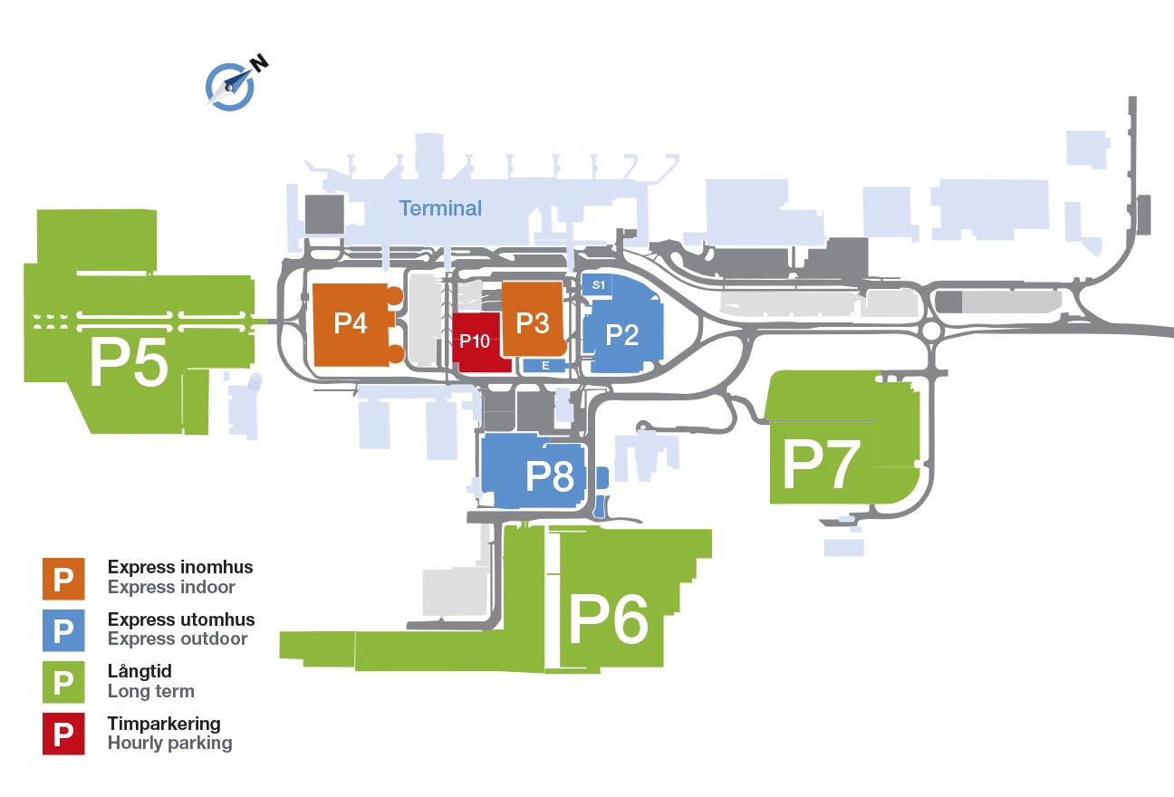 parkering landvetter flygplats