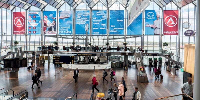 Reklamplatser Stockholm Arlanda Airport